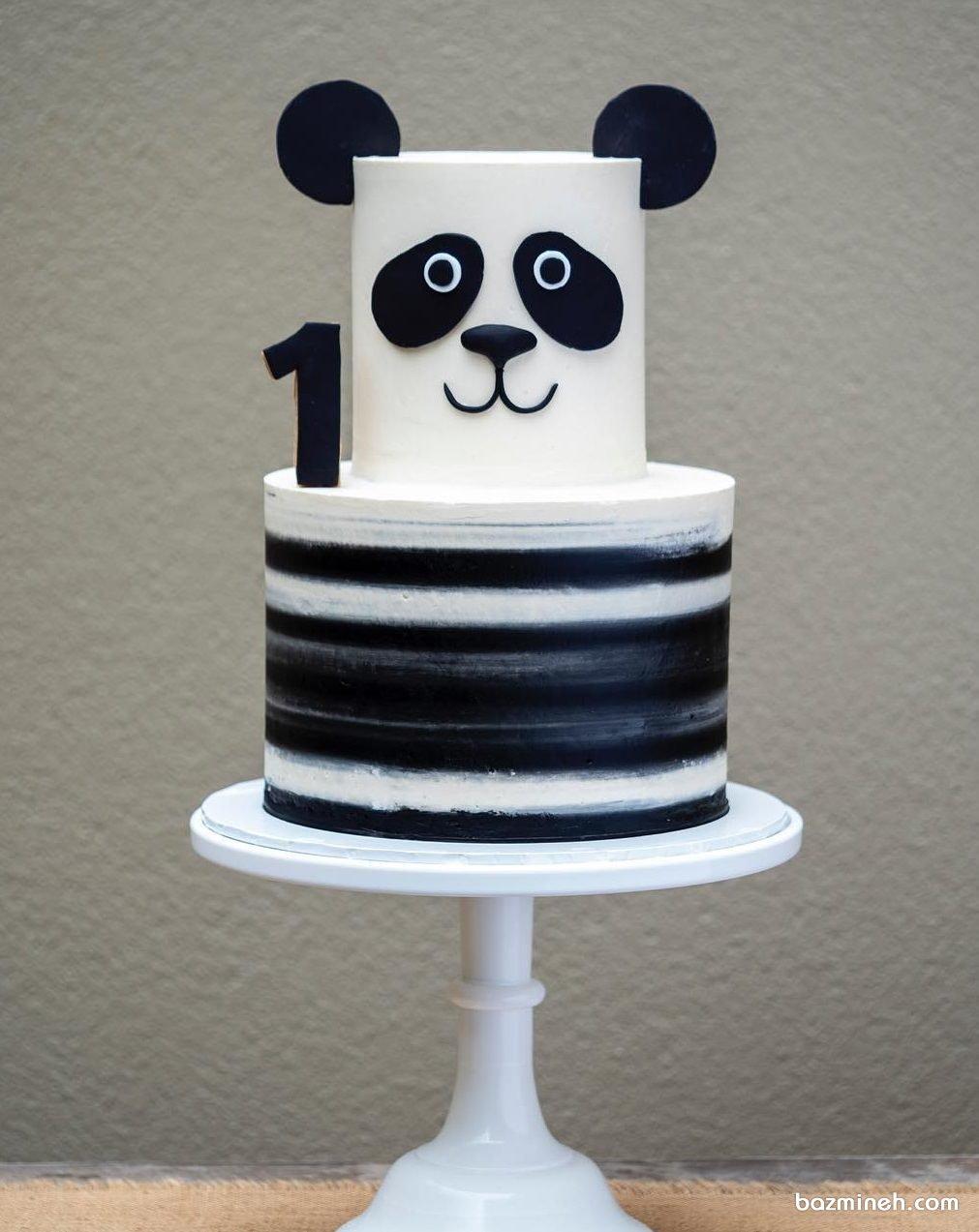 کیک دو طبقه جشن تولد کودک با تم پاندا