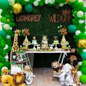 دکوراسیون و بادکنک آرایی مهیج جشن تولد کودک با تم حیوانات جنگل