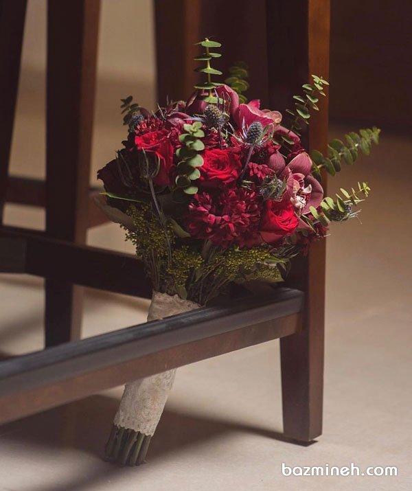 دسته گل عروس مناسب برای استایل عروسی وینتج