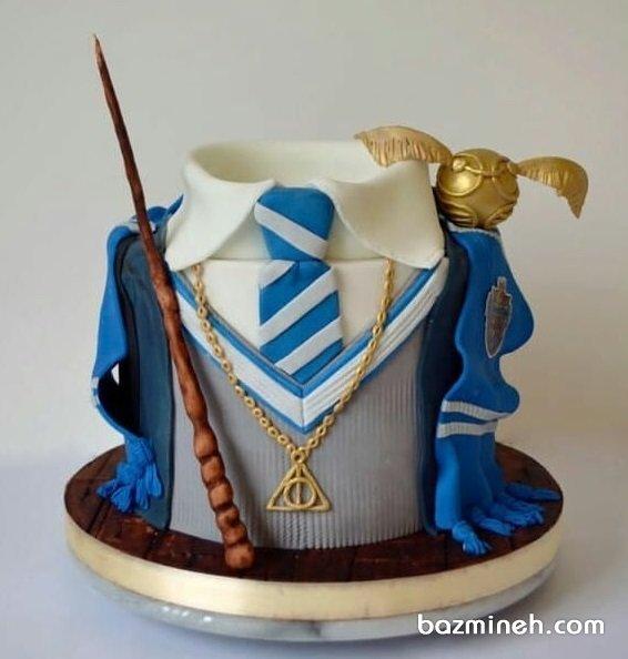 کیک جشن تولد پسرونه با تم هری پاتر