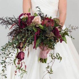 دسته گل عروس به سبک وینتج