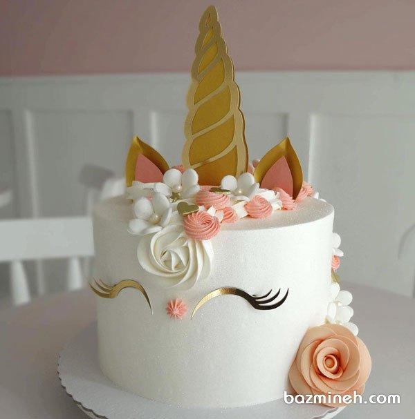 کیک رویایی جشن تولد دخترونه با تم یونیکورن (Unicorn)