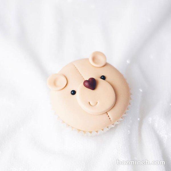 کاپ کیک عروسکی جشن تولد کودک با تم خرس تدی