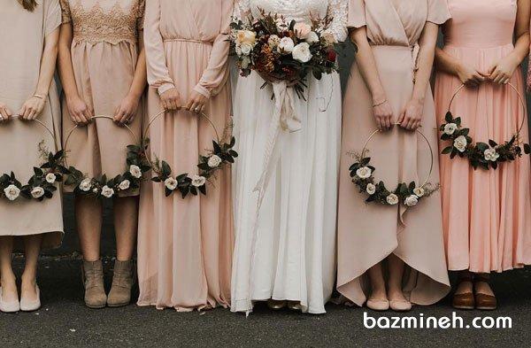 حلقههای گل ایدهای خاص و زیبا برای گل ساقدوشهای عروس