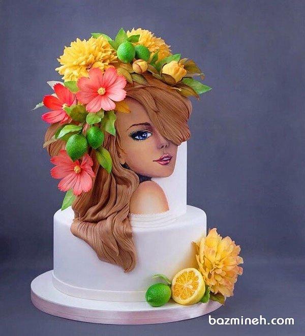کیک دو طبقه یونیک جشن تولد دخترونه