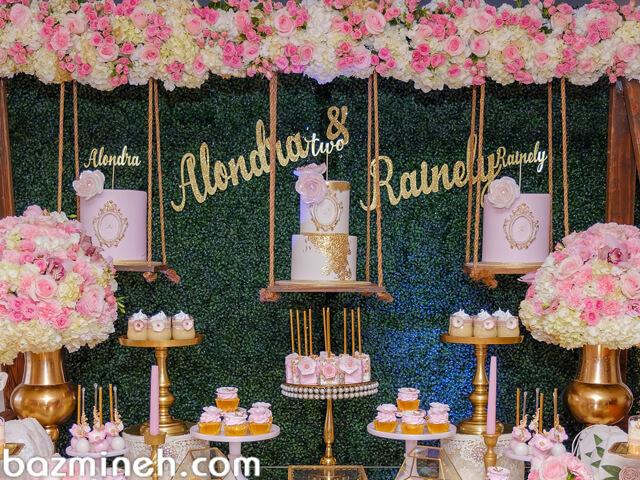 تزئین میز تولد و نامزدی