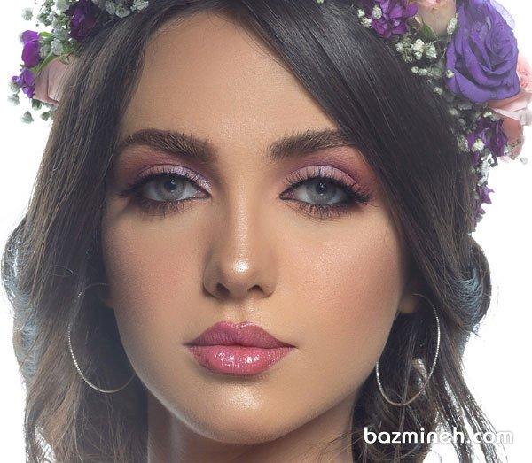 میکاپ عروسکی با لنز رنگی زیبا برای عروس خانم ها با سبک فانتزی
