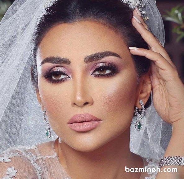 میکاپ مد روز عروس خانم ها با سایه اکلیلی