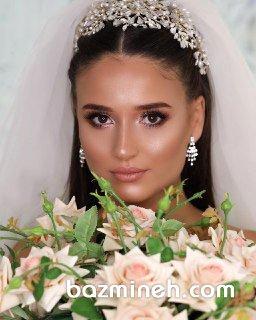 میکاپ مدیوم عروس با تم بژ مناسب برای فرمالیته