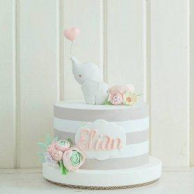 مینی کیک فانتزی جشن تولد کودک با تم فیل کوچولو
