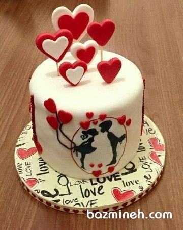 مینی کیک فوندانت روز عشق (ولنتاین)
