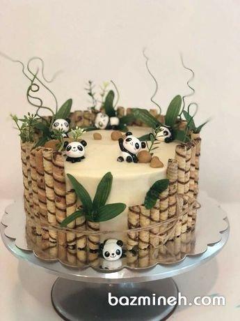 کیک بامزه جشن تولد با تم پاندا