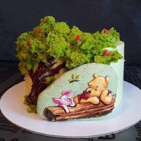 مینی کیک زیبای جشن تولد کودک با تم پو و دوستان