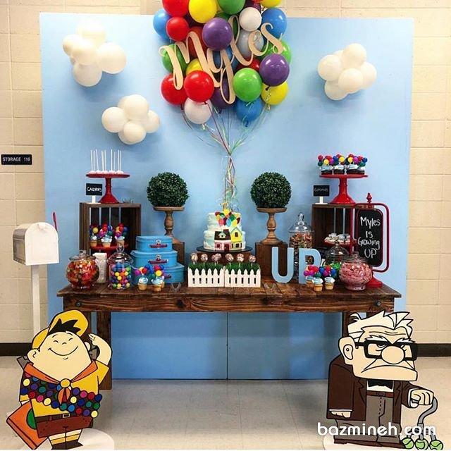 دکوراسیون و بادکنک آرایی جشن تولد پسرونه با تم کارتون آپ (Up)