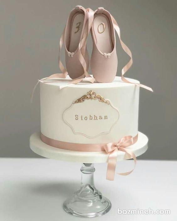 کیک فوندانت جشن تولد دخترونه با تم بالرین