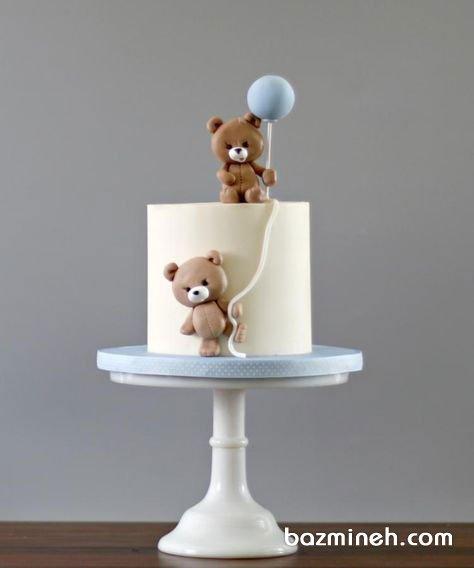 مینی کیک عروسکی جشن تولد کودک با تم خرس تدی