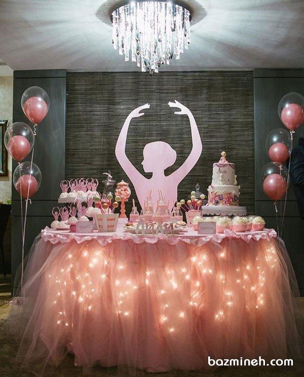 دکوراسیون و بادکنکآرایی رویایی جشن تولد دخترونه با تم بالرین