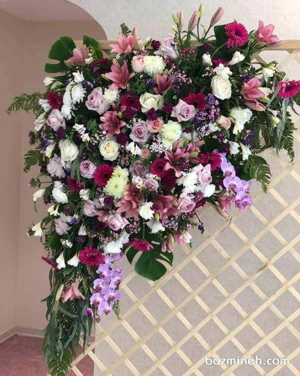 گل آرایی یونیک جشن نامزدی و عروسی به سبک متفاوت و مدرن