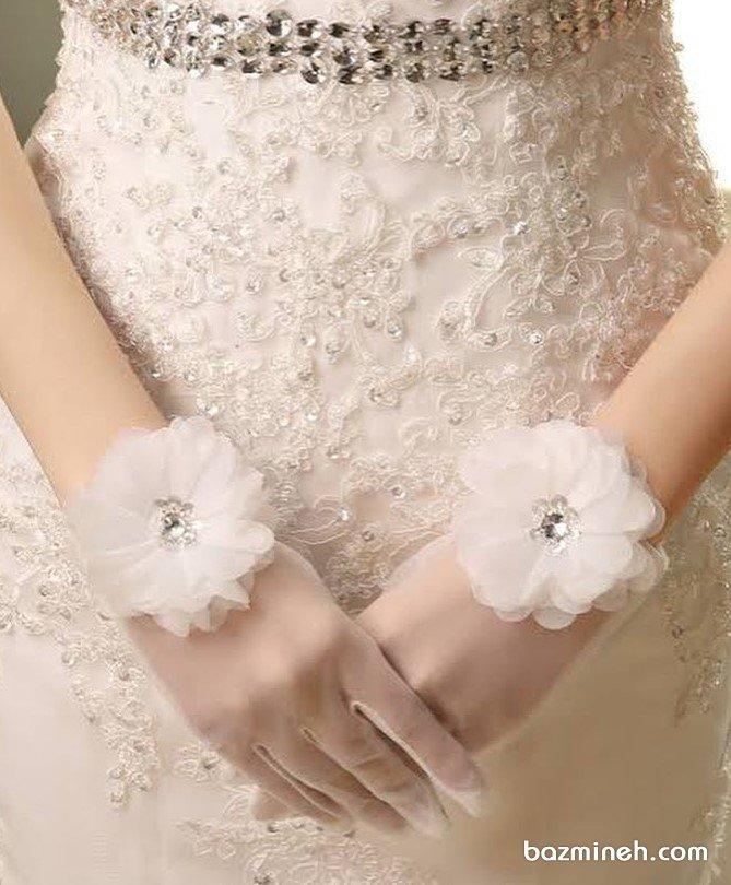 دستکش عروس اکسسوری زیبا برای عروس خانم ها با سبک کلاسیک