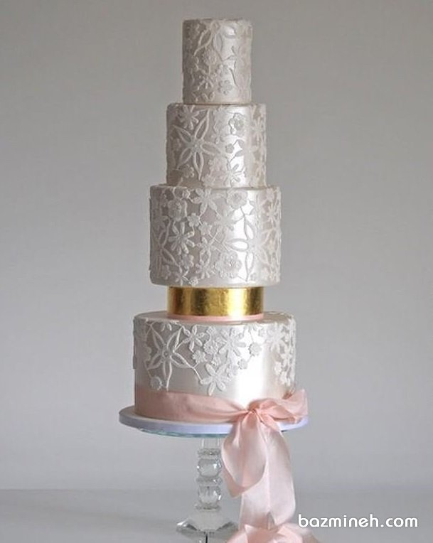 کیک چند طبقه لوکس جشن نامزدی و عروسی