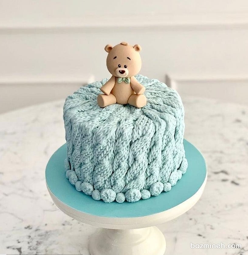مینی کیک فانتزی جشن تولد کودک با تم خرس تدی