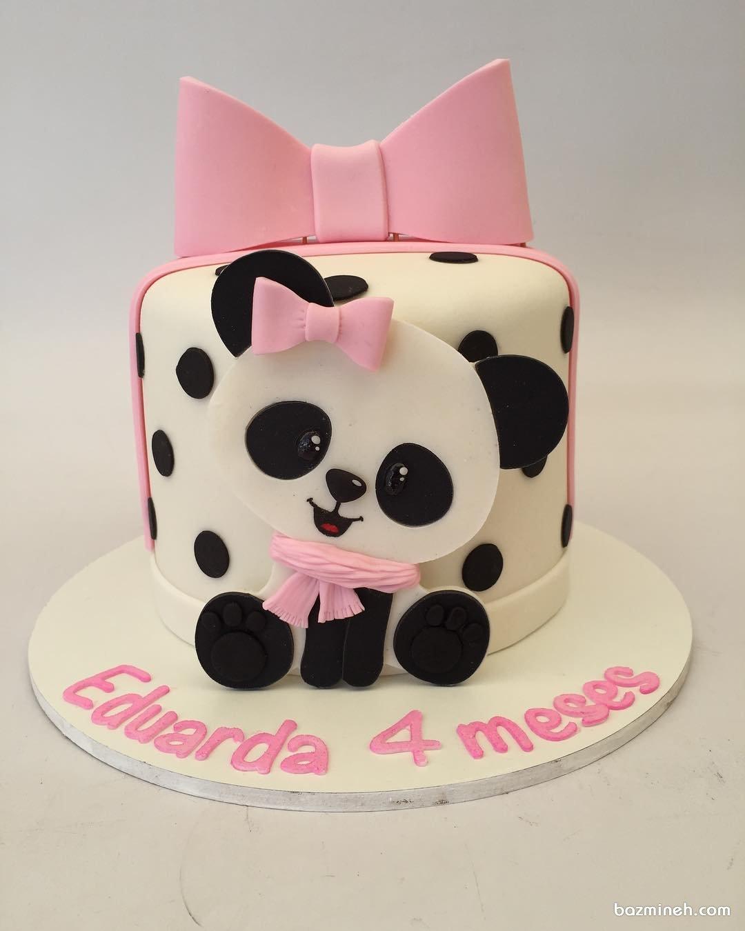 مینی کیک جشن تولد دخترونه با تم پاندا