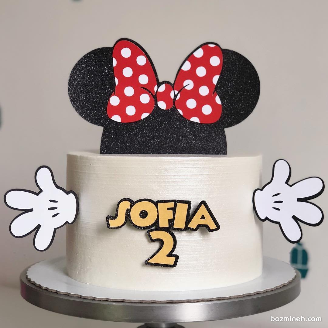 مینی کیک فانتزی جشن تولد دخترونه با تم مینی موس