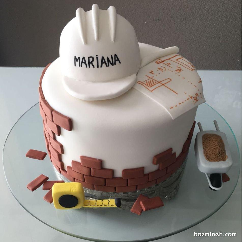 مینی کیک فوندانت جشن تولد پسرونه ایدهای جالب برای مهندسای عمران