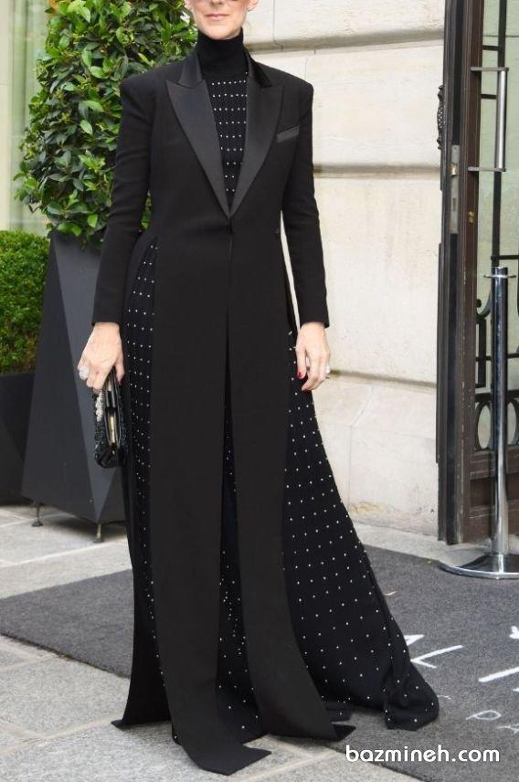 مانتو کتی بلند با پارچه کرپ مشکی مدلی زیبا برای استایلهای رسمی