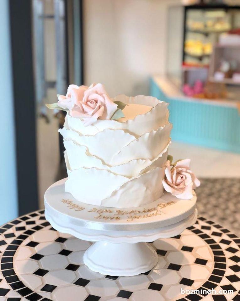 مینی کیک خامهای رمانتیک جشن تولد دخترونه یا سالگرد ازدواج