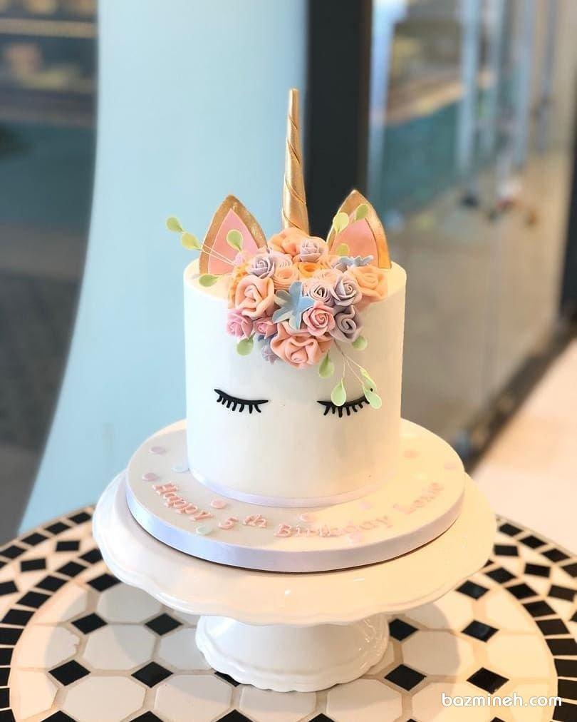مینی کیک فانتزی جشن تولد دخترونه با تم یونیکورن (Unicorn)