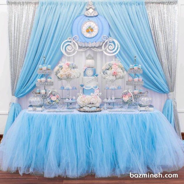 دکوراسیون رویایی جشن تولد دخترونه با تم زیبای سیندرلا