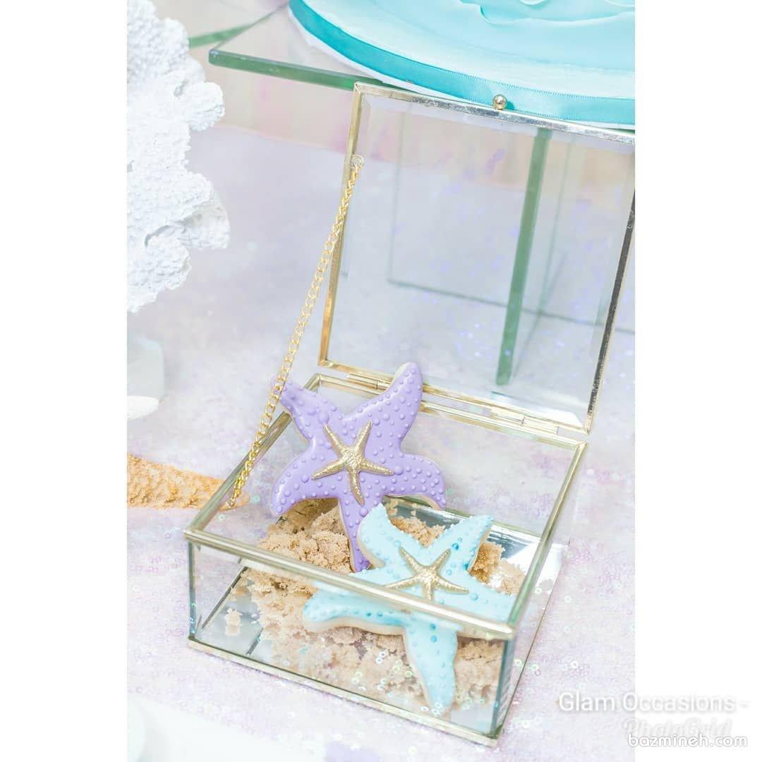 کوکی های رویایی جشن تولد با تم ستاره دریایی