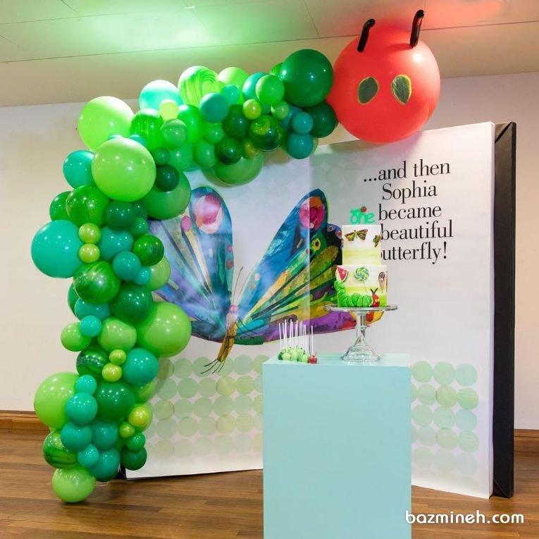 دکوراسیون و بادکنک آرایی جشن تولد دخترونه با تم پروانه (Butterfly)