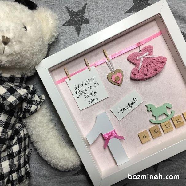 گیفت قاب عکسی جشن تولد یکسالگی دخترونه