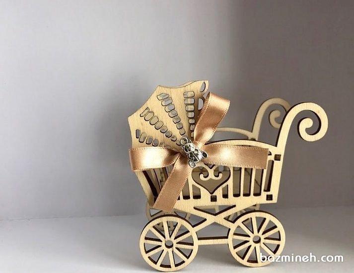 گیفت یونیک جشن بیبی شاور یا نوزادی با تم کالسکه کودک