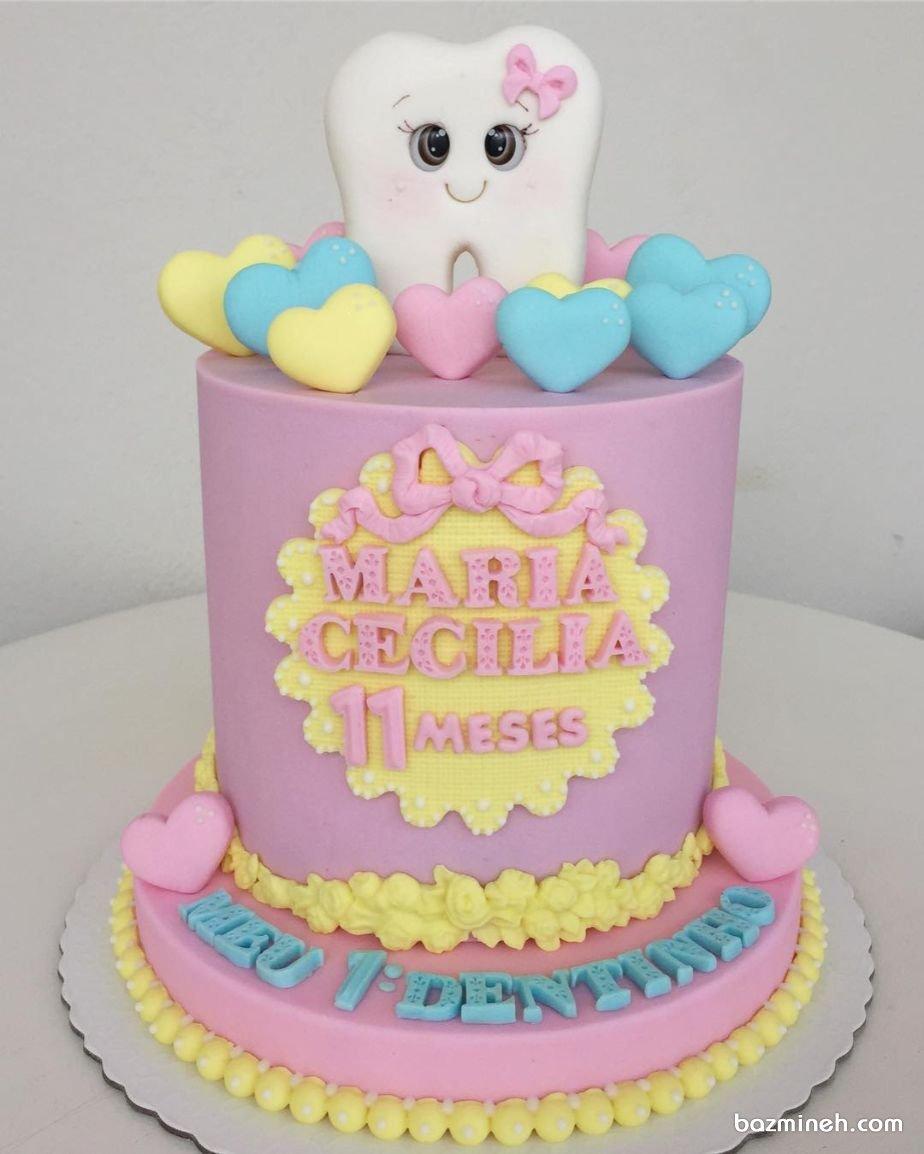 کیک فانتزی جشن دندونی دخترونه