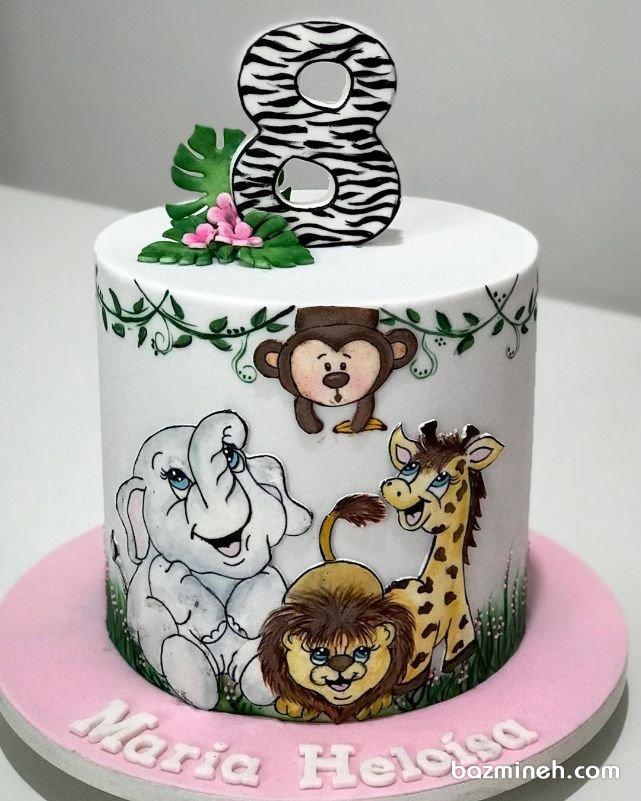 مینی کیک فانتزی جشن تولد کودک با تم جنگل