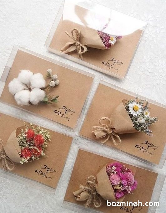 گیفت های زیبای جشن عروسی با طرح دسته گل