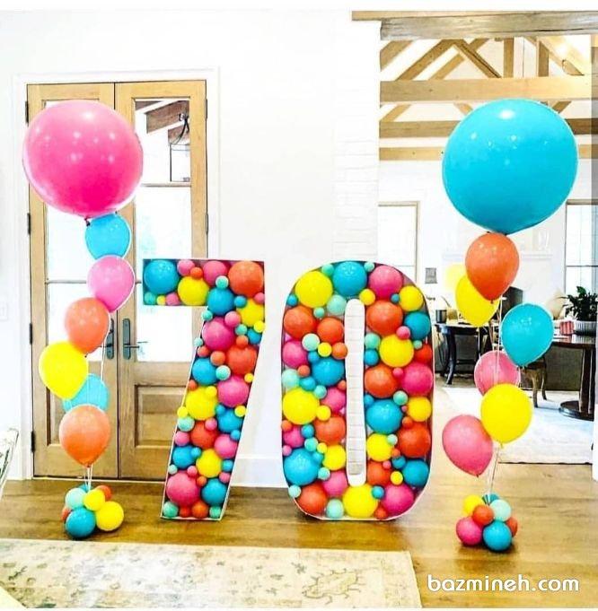 بادکنک آرایی جشن تولد بزرگسال به شکل عدد و سن ایدهای جالب برای سورپرایز تولد