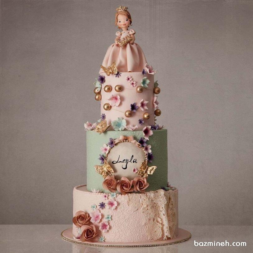کیک چند طبقه رویایی جشن تولد دخترونه