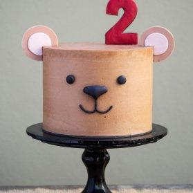 کیک فانتزی جشن تولد کودک با تم خرس تدی