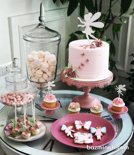 کیک، کاپ کیک، پاپ کیک و کوکی جشن تولد دخترونه با تم تینکربل (Tinker Bell)