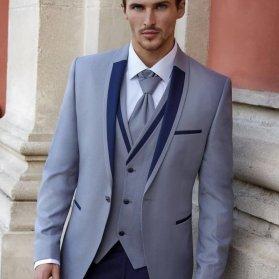 کت و شلوار اسپرت مردانه طوسی رنگ ستی زیبا برای آقا دامادها در مراسم خواستگاری و بلهبرون