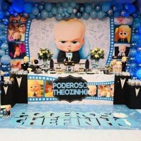 دکوراسیون جشن تولد پسرونه با تم بچه رئیس