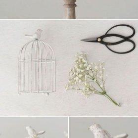 گیفتهای زیبای جشن عروسی به شکل قفسهای فلزی فانتزی و گل