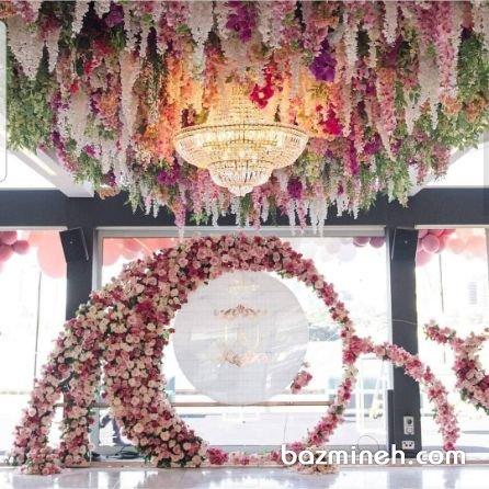 گل آرایی شیک جشن عروسی مناسب جشنهای لوکس