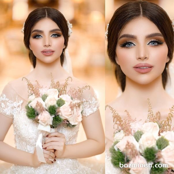 یک آرایش زیبا با سایه اسموکی مناسب بله برون و نامزدی یا عکاسی فرمالیته