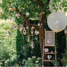 دکوراسیون جشن نامزدی و عروسی به سبک روستیک لوکیشنی زیبا برای عکاسی