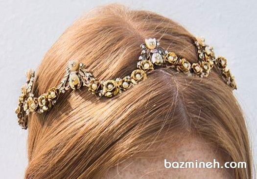 تاج گرد و ظریف مناسب برای عروس خانمها در مراسم فرمالیته